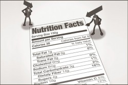 nutrition label with less salt
