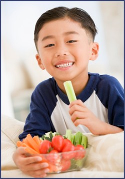 kid healthy snacking