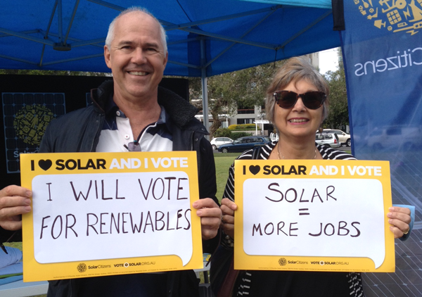 Let your MP and candidates know that you love solar and you vote!