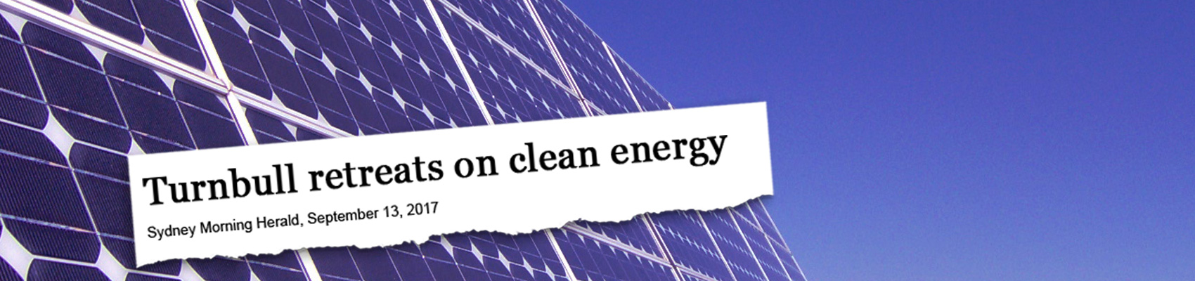 Sign the petition: for our clean, renewable energy future