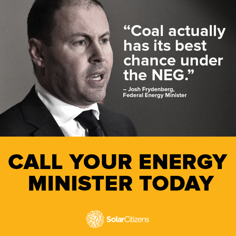 Call your state energy minister today!