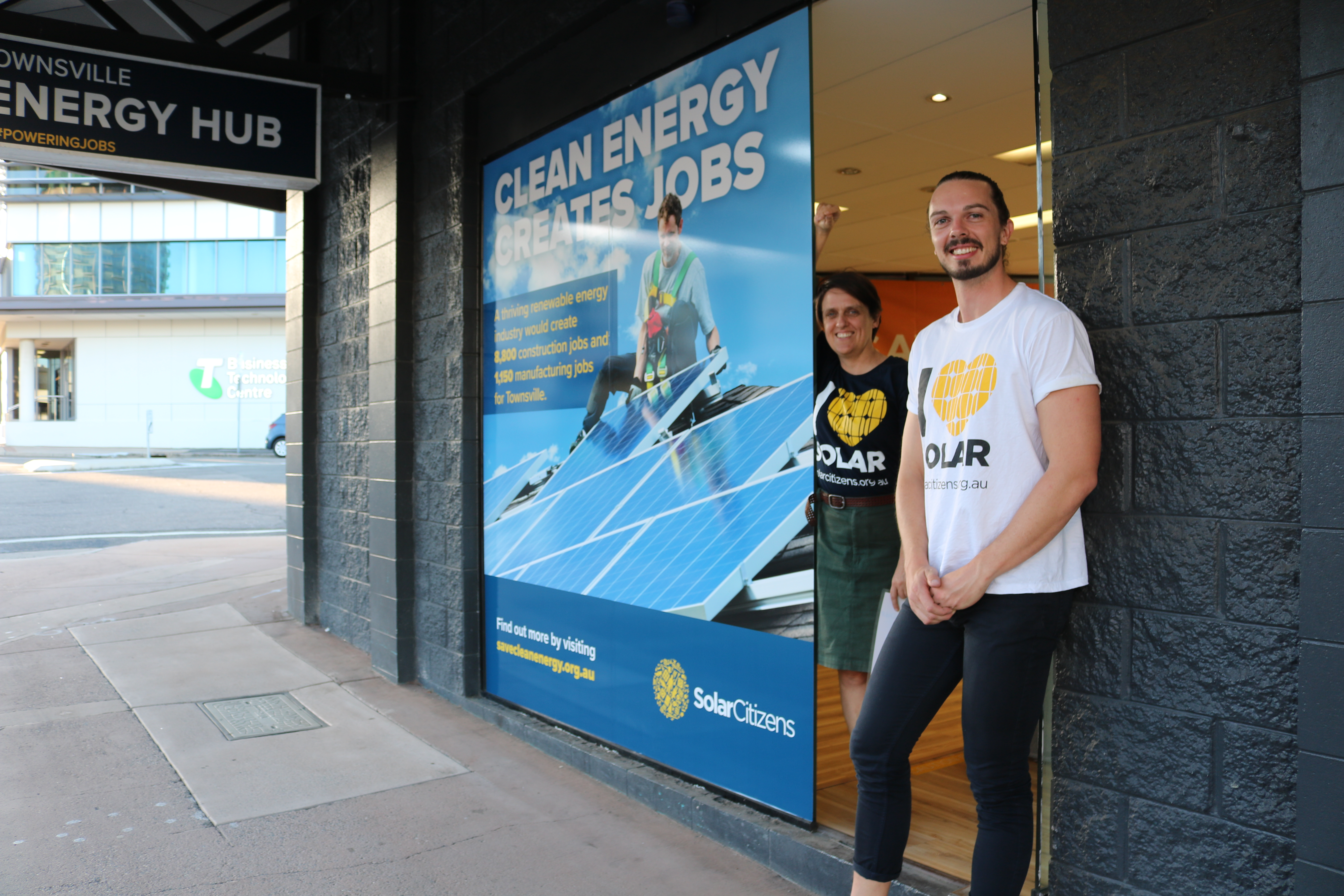 Ellen and Tyler at the Clean Energy Hub