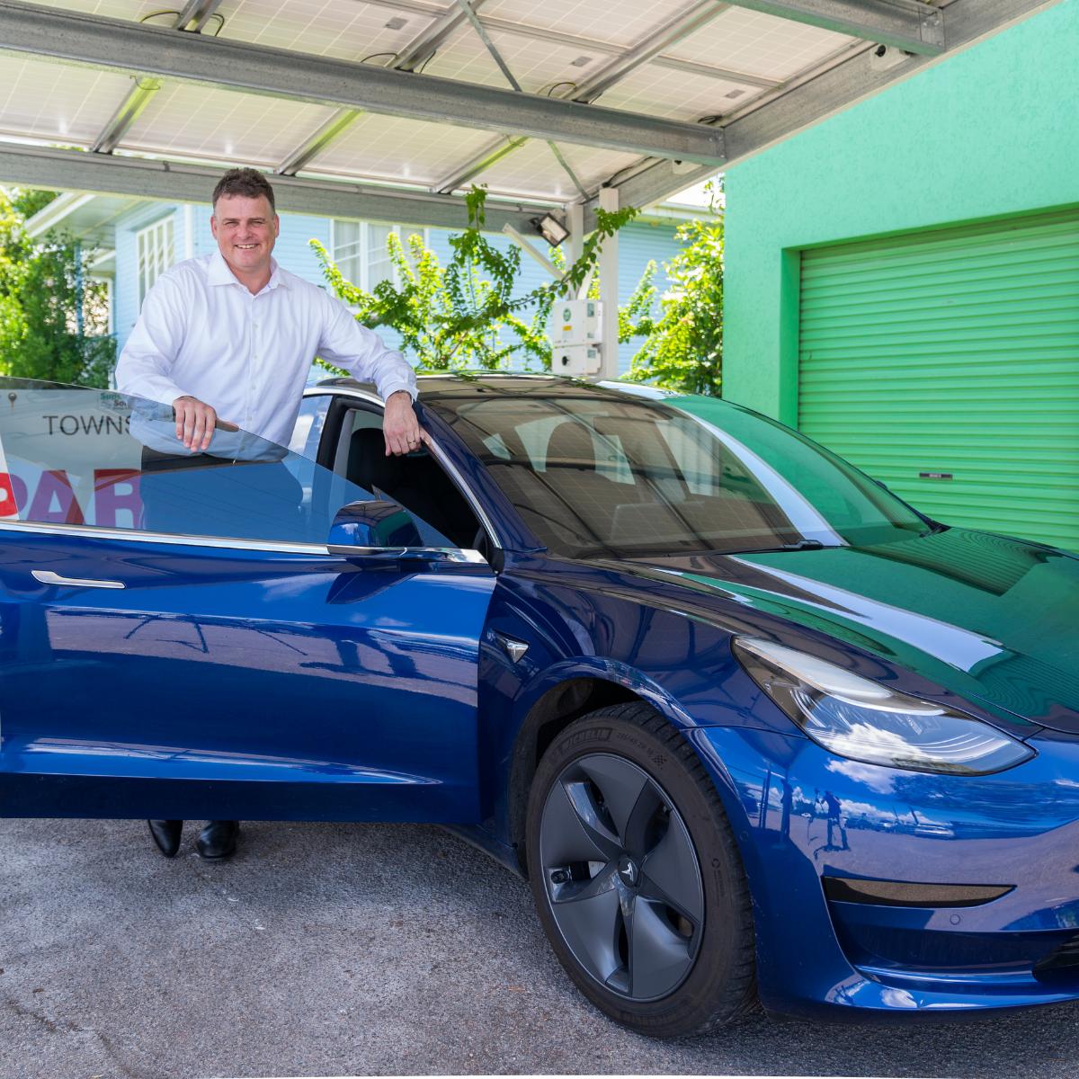 Richard with his Tesla