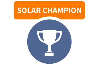 Solar Champion badge