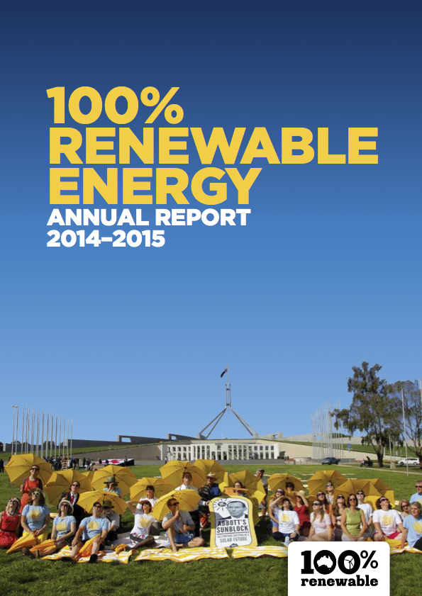 100 per cent Renewable Energy Community Campaign Annual Report 2014-15