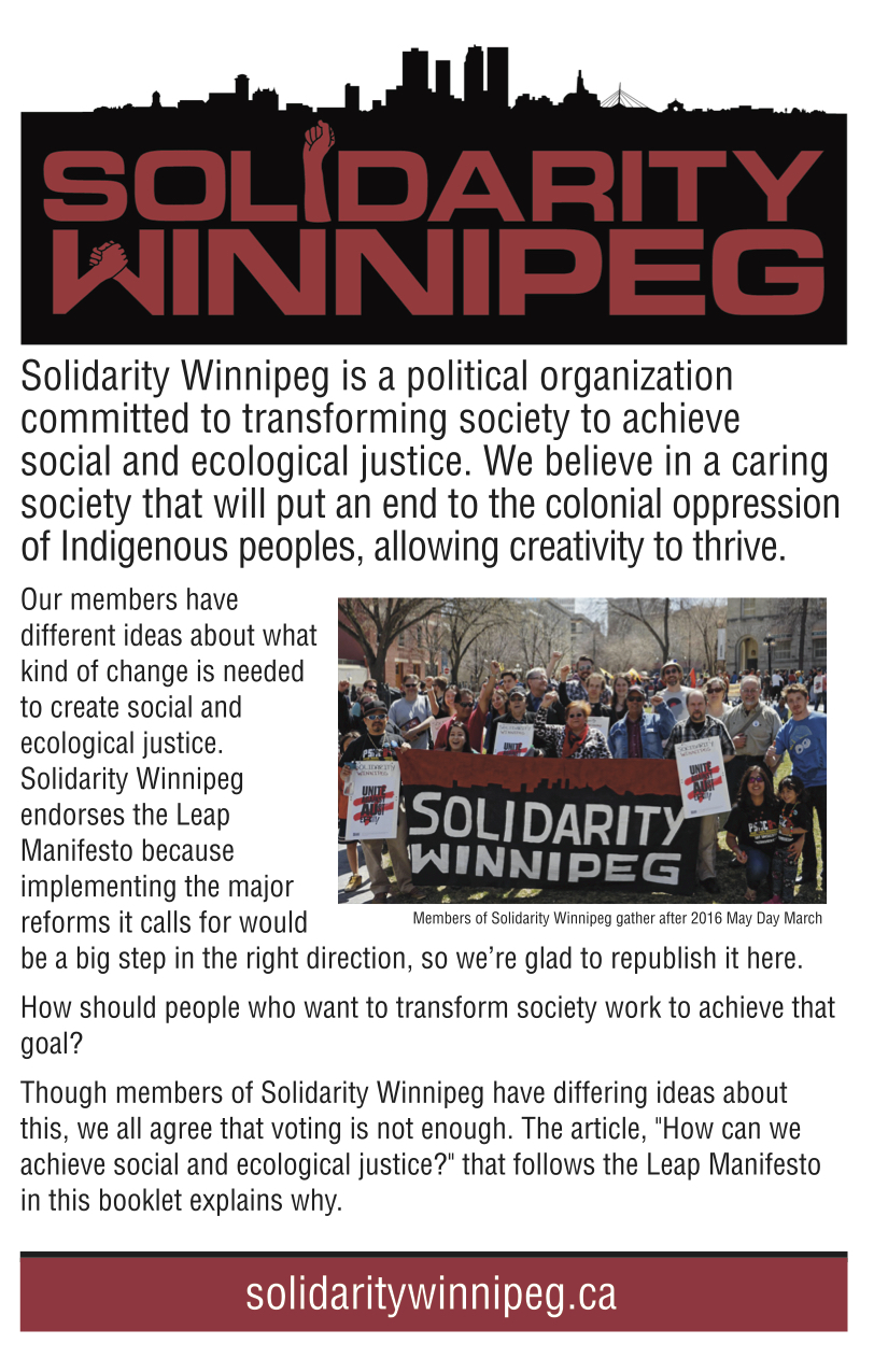 Solidarity Winnipeg Pamphlet