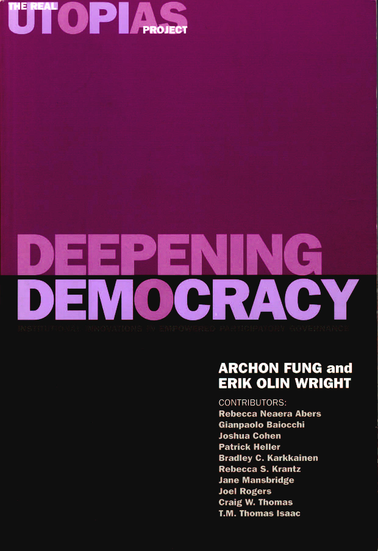 Deepening Democracy Cover