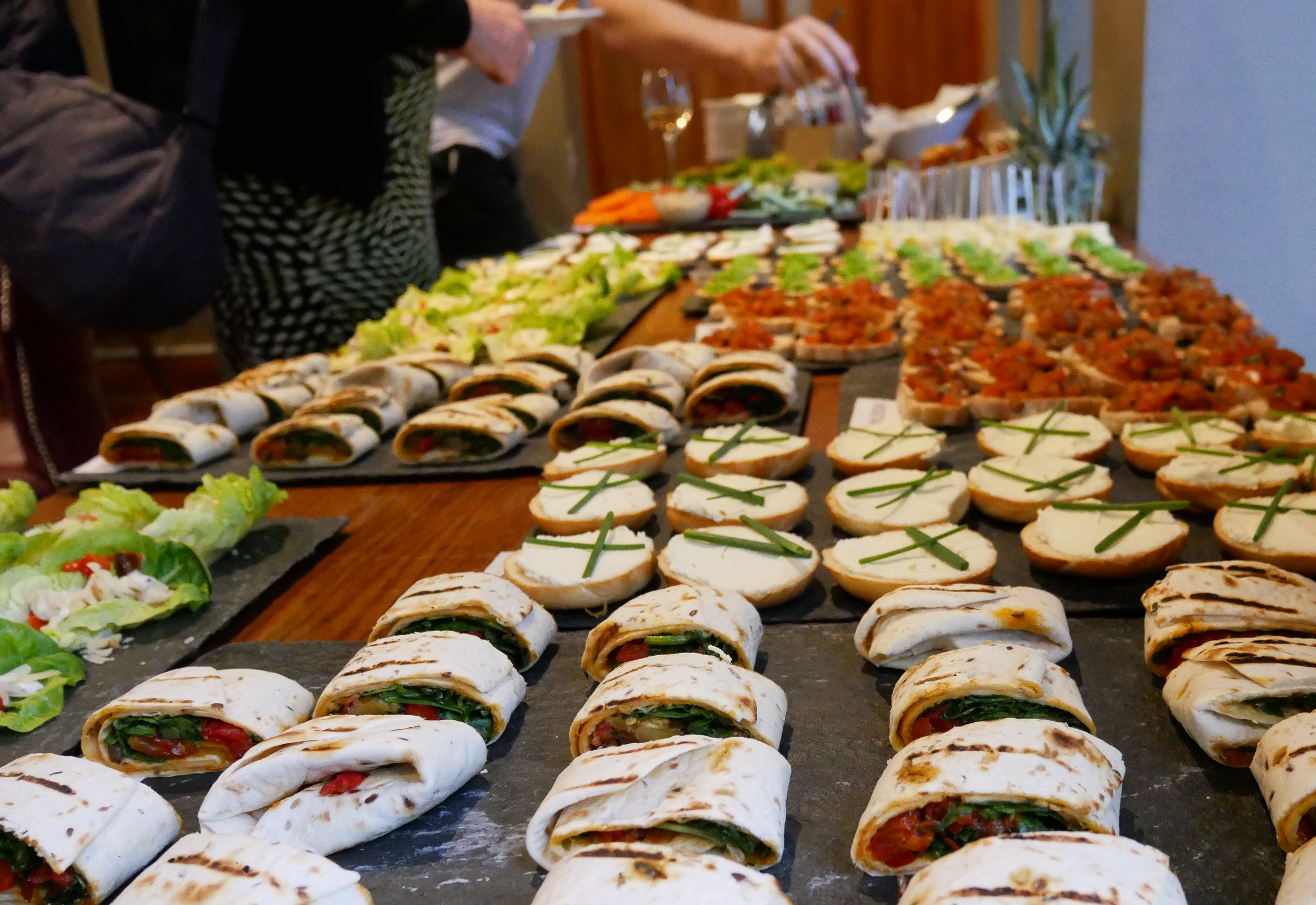 Food buffet for launch event