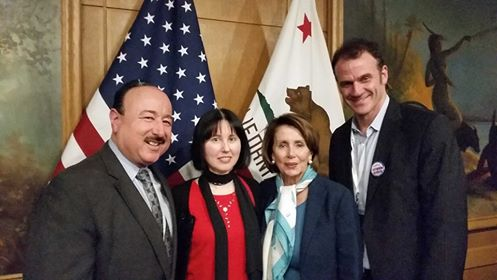 Bruce, Susan, and Patrick with Nancy Pelosi at the Democratic State Convention
