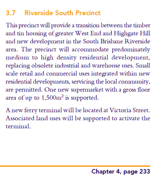 Victoria St Ferry in South Brisbane Riverside Neighbourhood Plan