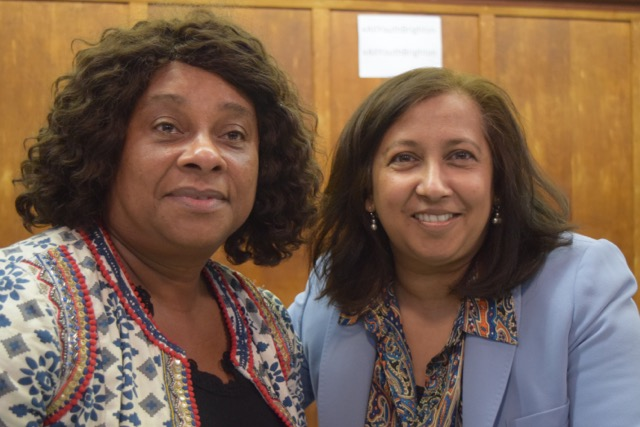 Purna Sen, Labour's BAME candidate for Brighton Pavilion, with Baroness Lawreness