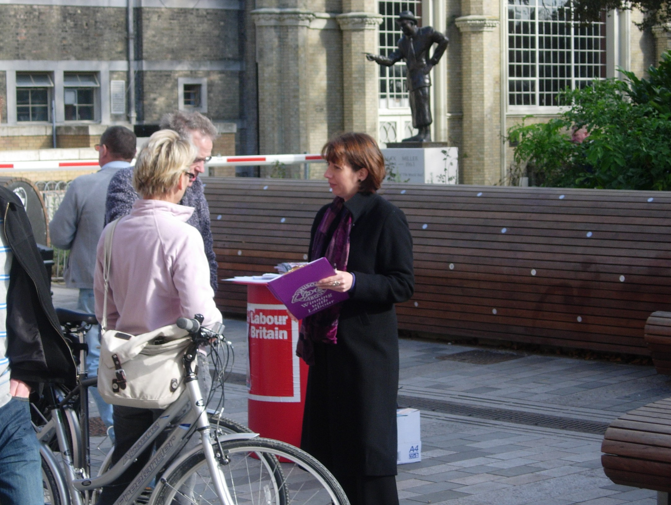 Nancy Platts Campaigning