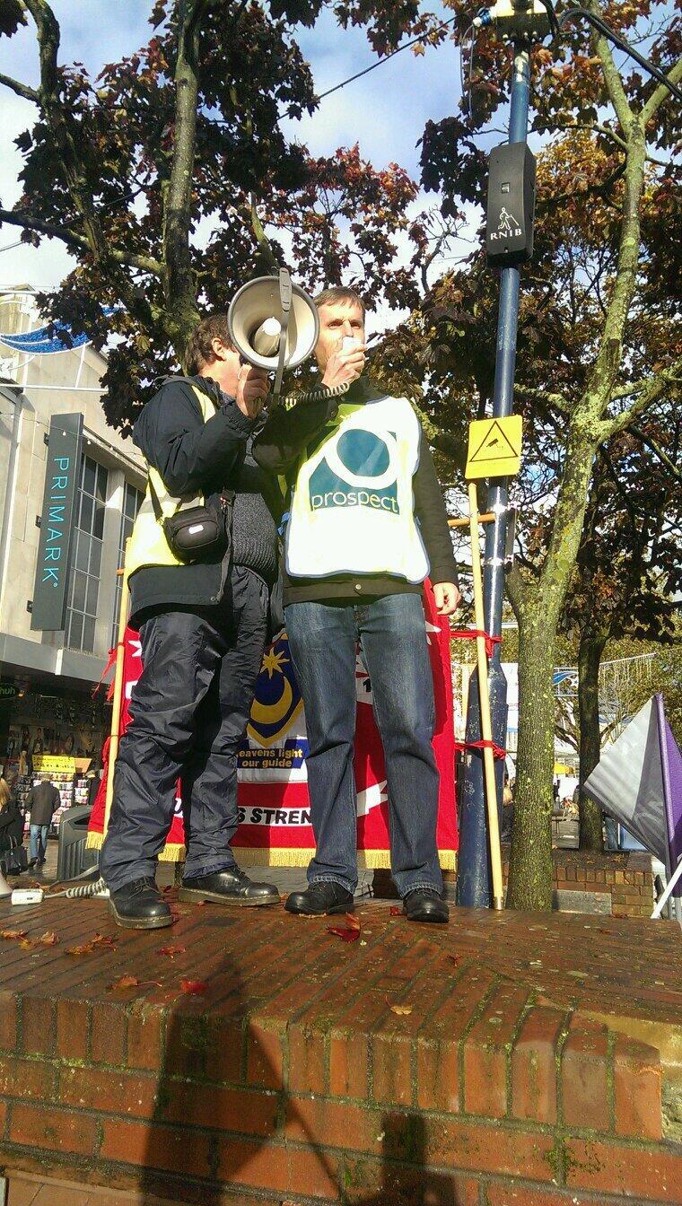 John Ferrett campaigning against the closyure