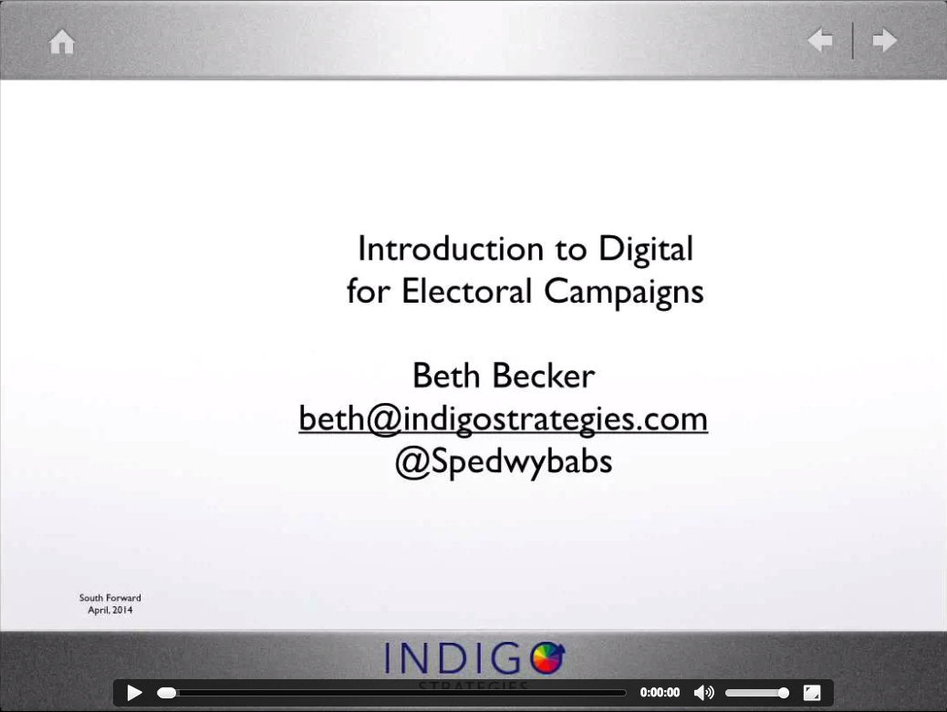 Introduction to Digital for Electoral Campaigns