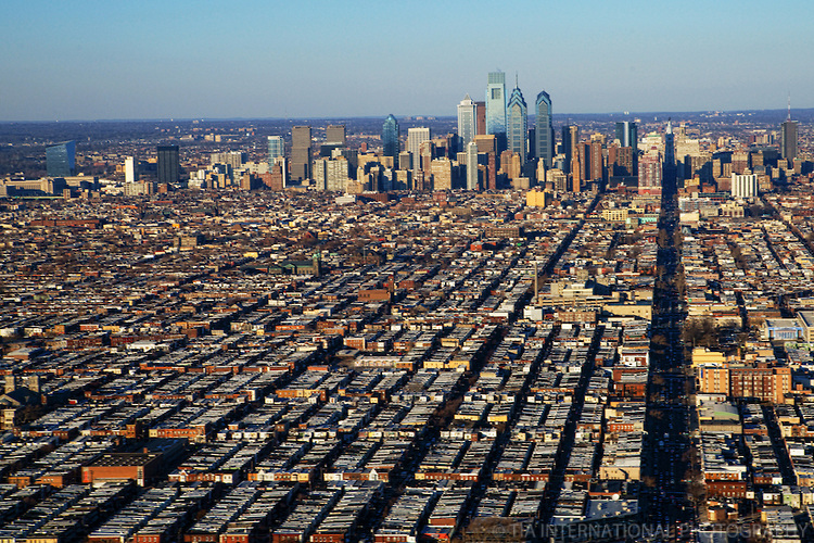 Aerial View of South Philadelphia