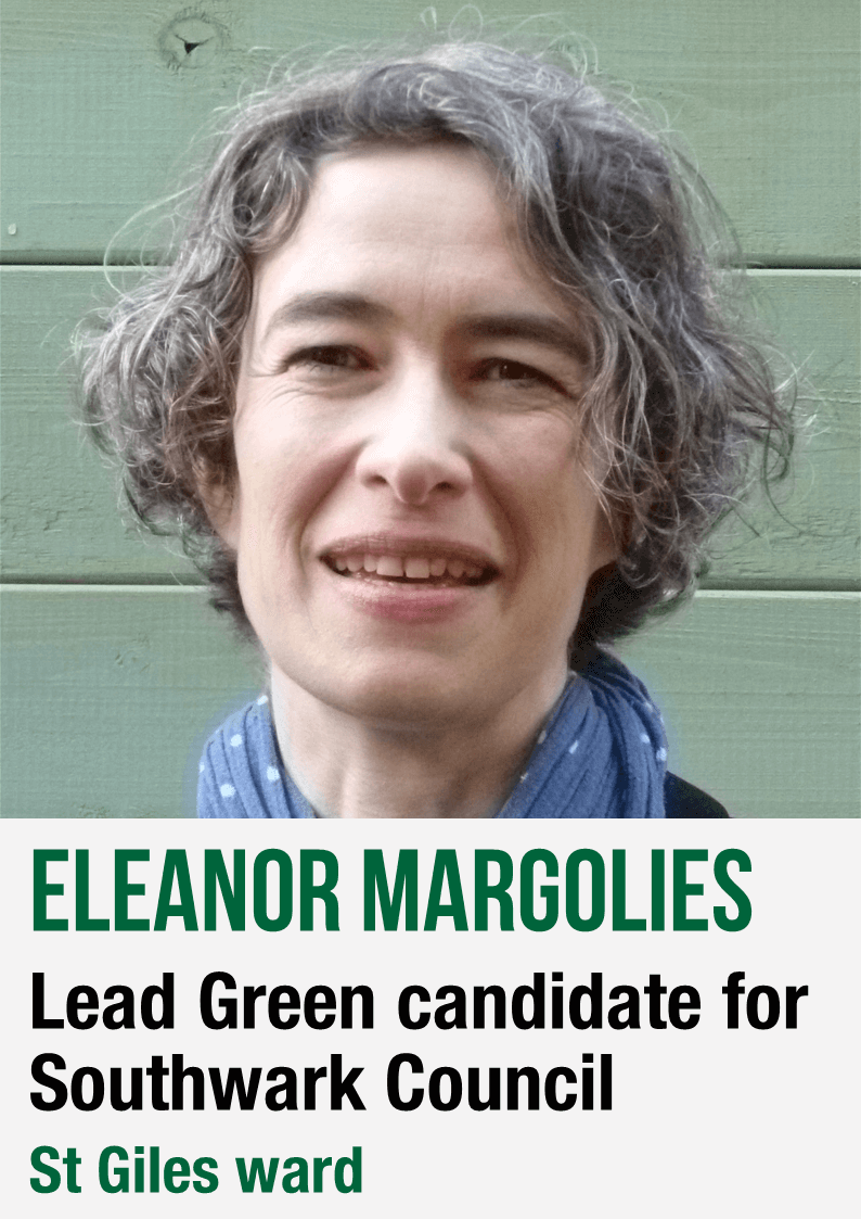 Eleanor Margolies - lead Green candidate for Southwark Council