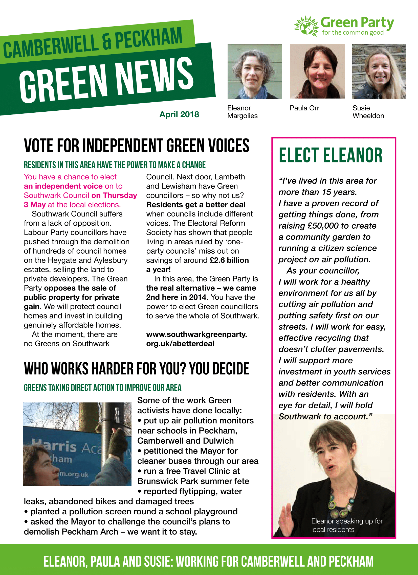 Camberwell & Peckham Green News - April 2018