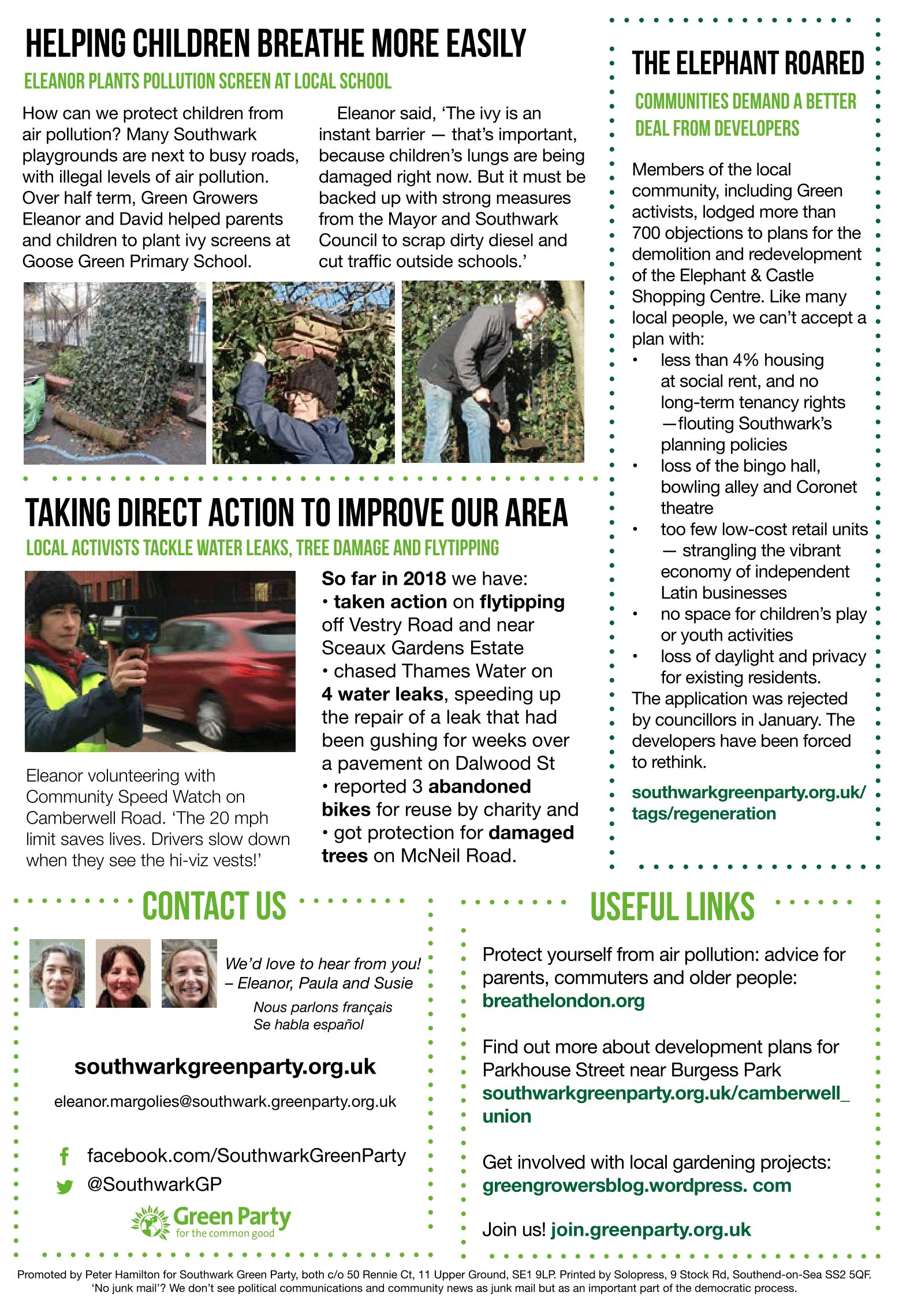 Camberwell & Peckham Green News March 2018
