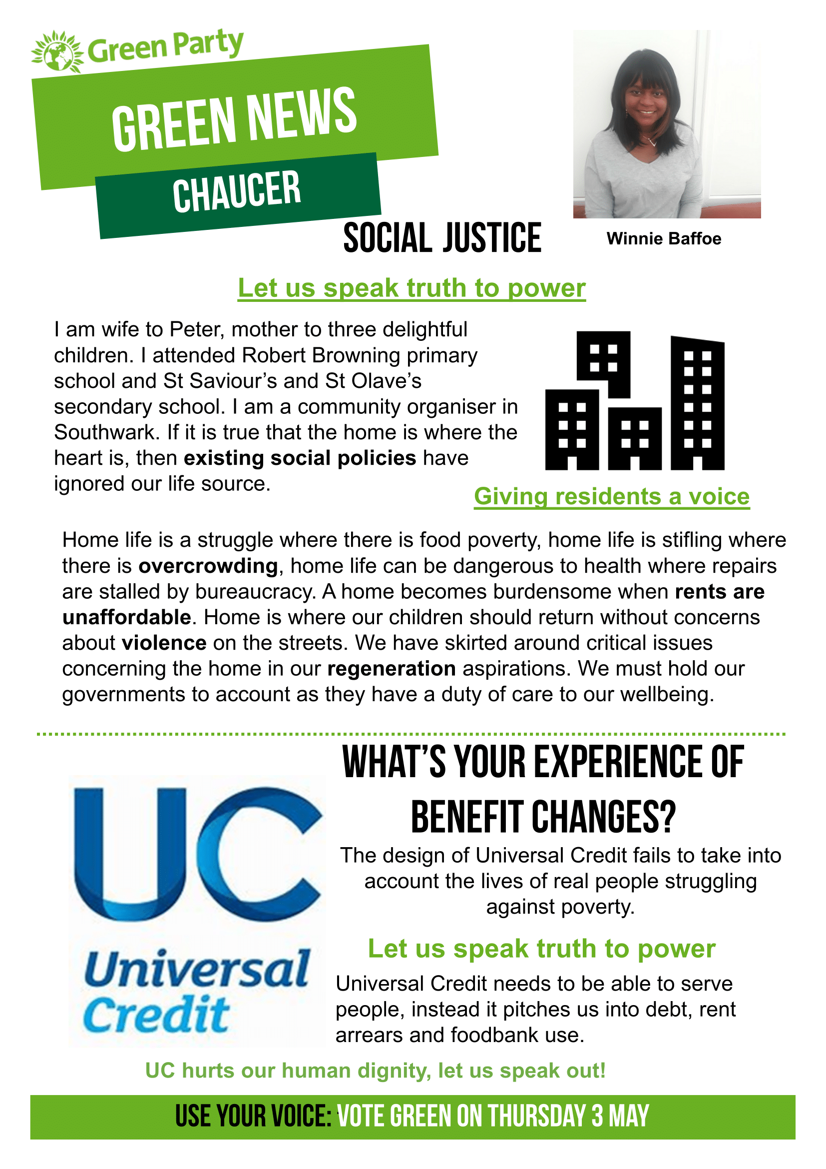 Chaucer Green News April/May 2018