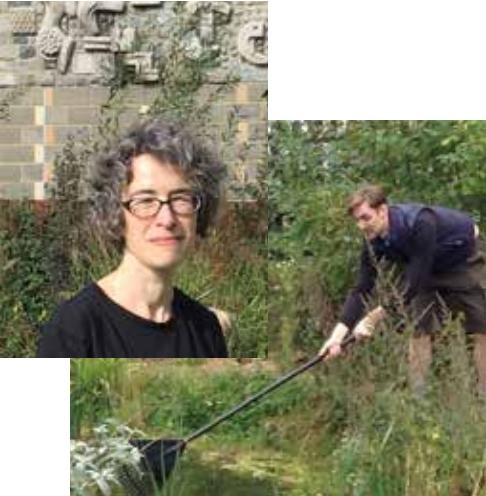 Eleanor helped local volunteers tidy up Benhill Road Nature Garden