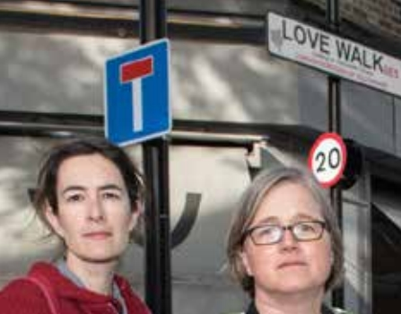 Eleanor and Caroline Russell supported local calls for a crossing at Love Walk.