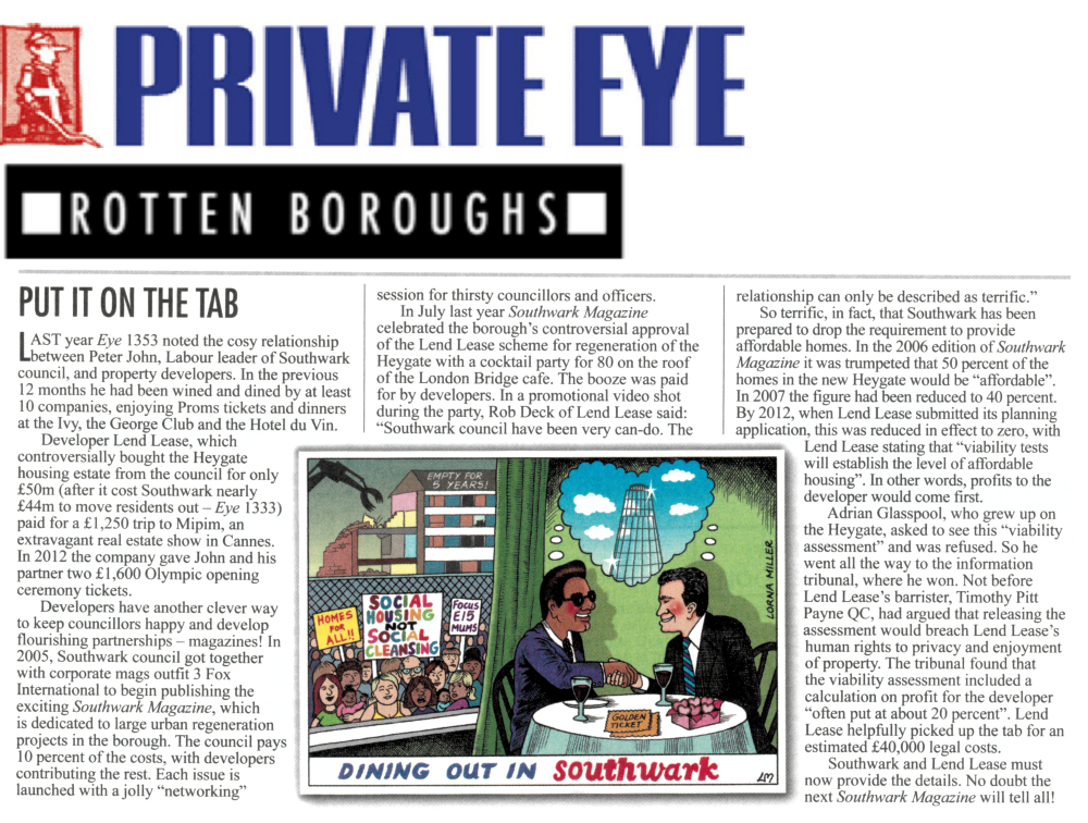 Thumbnail image of and link to scanned version of Private Eye \