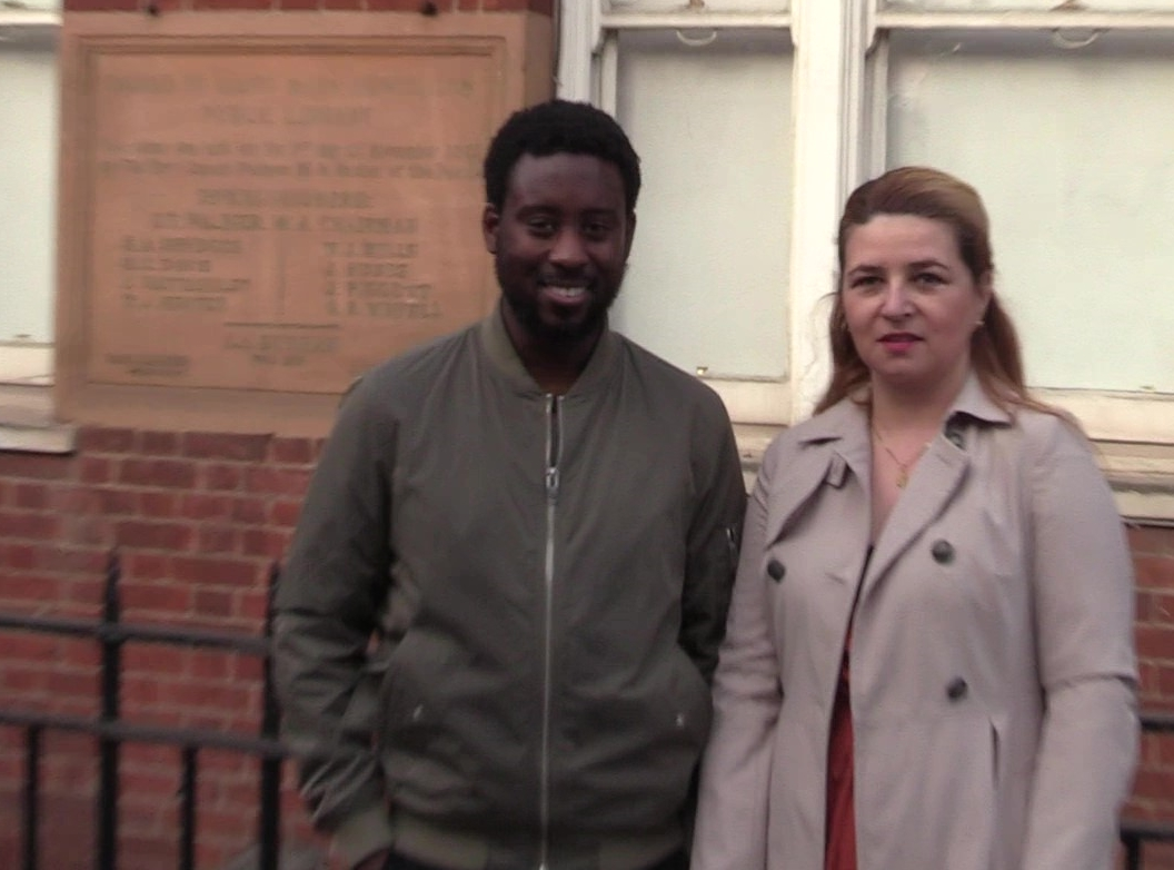 Peter and Lina: Standing up for restoration of Newington Library