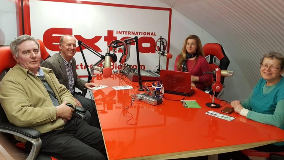 Walworth Green candidates in the radio studio
