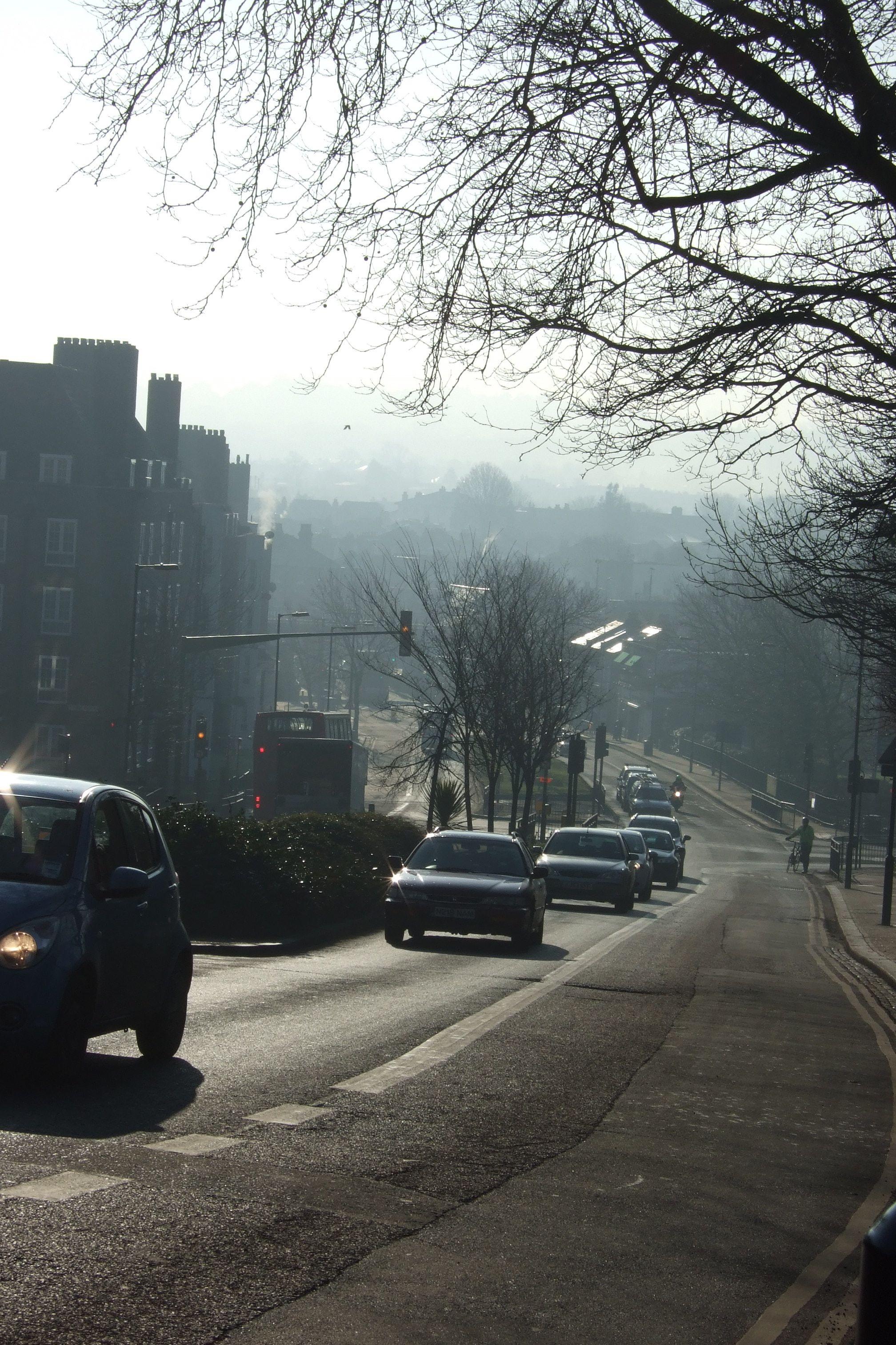 Traffic on Dog Kennel Hill SE22.jpg