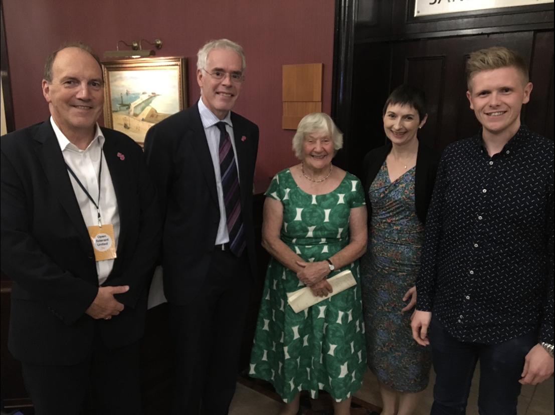 Simon Hughes with Shirley Williams, Victor Chamberlain and Caroline Pidgeon