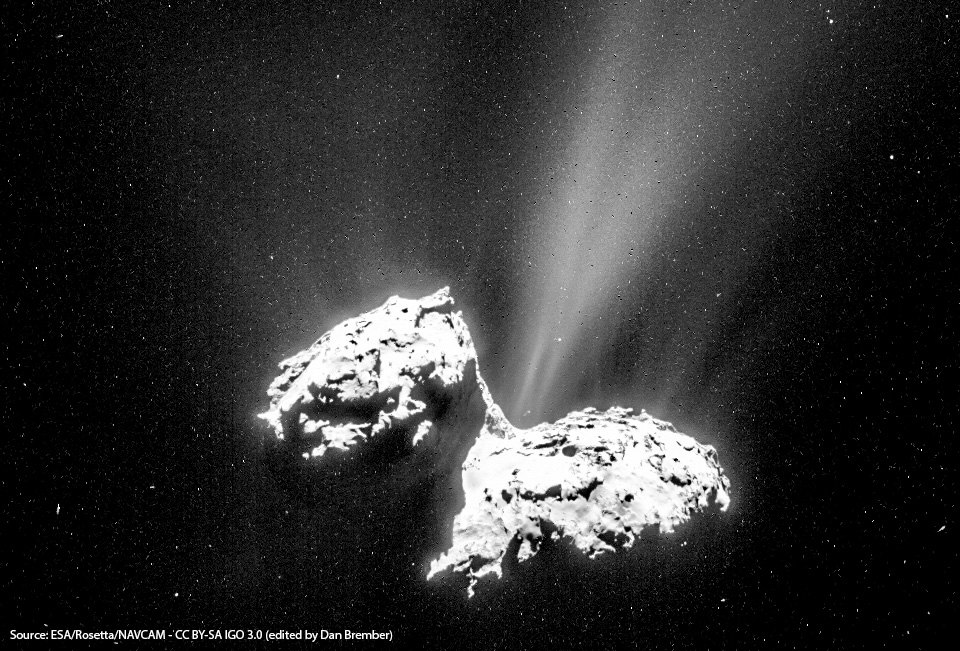 67p, as seen by Rosetta
