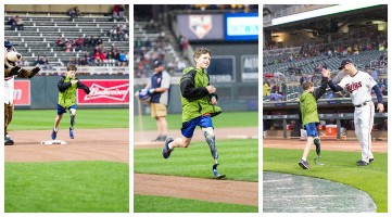 Eli running the bases with the Minnesota Twins