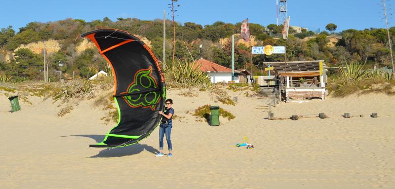 Ellen Sprenger Kite Surfing