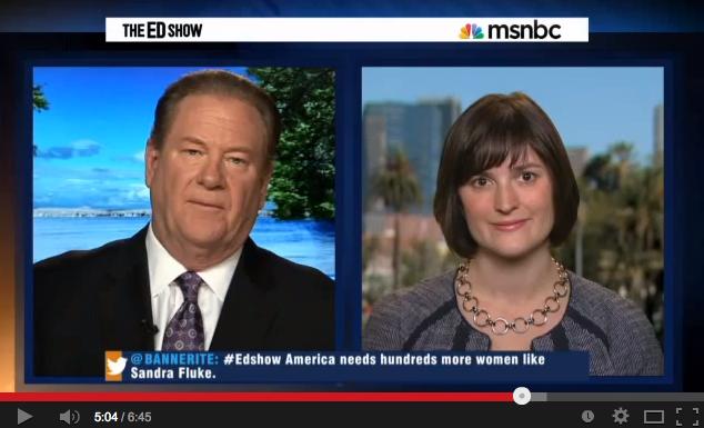 The Ed Show: Sandra Fluke on her California Race