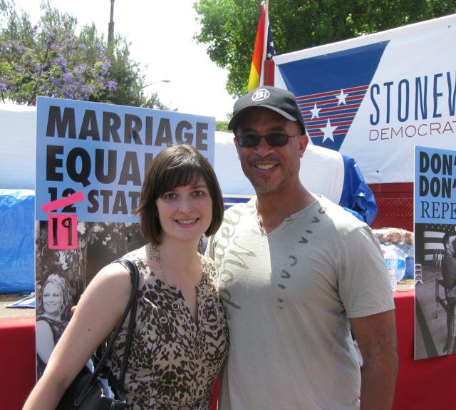 Frontiers LA: Sandra Fluke attends L.A. Pride Parade