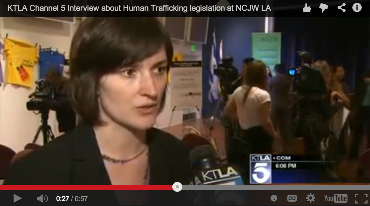 KTLA: Sandra Fluke on Anti-Trafficking Legislation