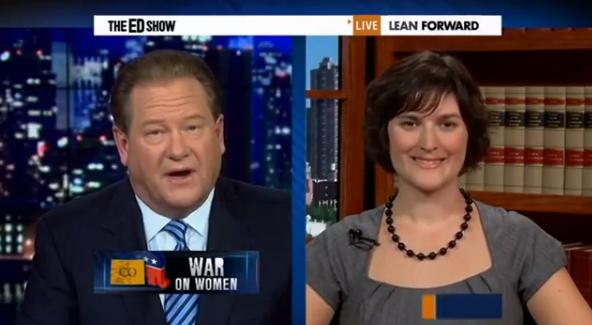 The Ed Show: Sandra Fluke Campaigns for President Obama