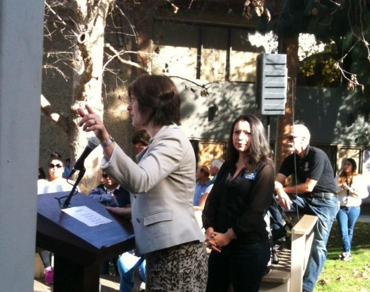 Los Angeles Times: Fluke Greets California Democratic Activists