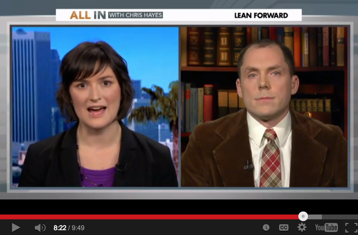 All In With Chris Hayes: Sandra Fluke Spars Over Corporations' First Amendment Rights