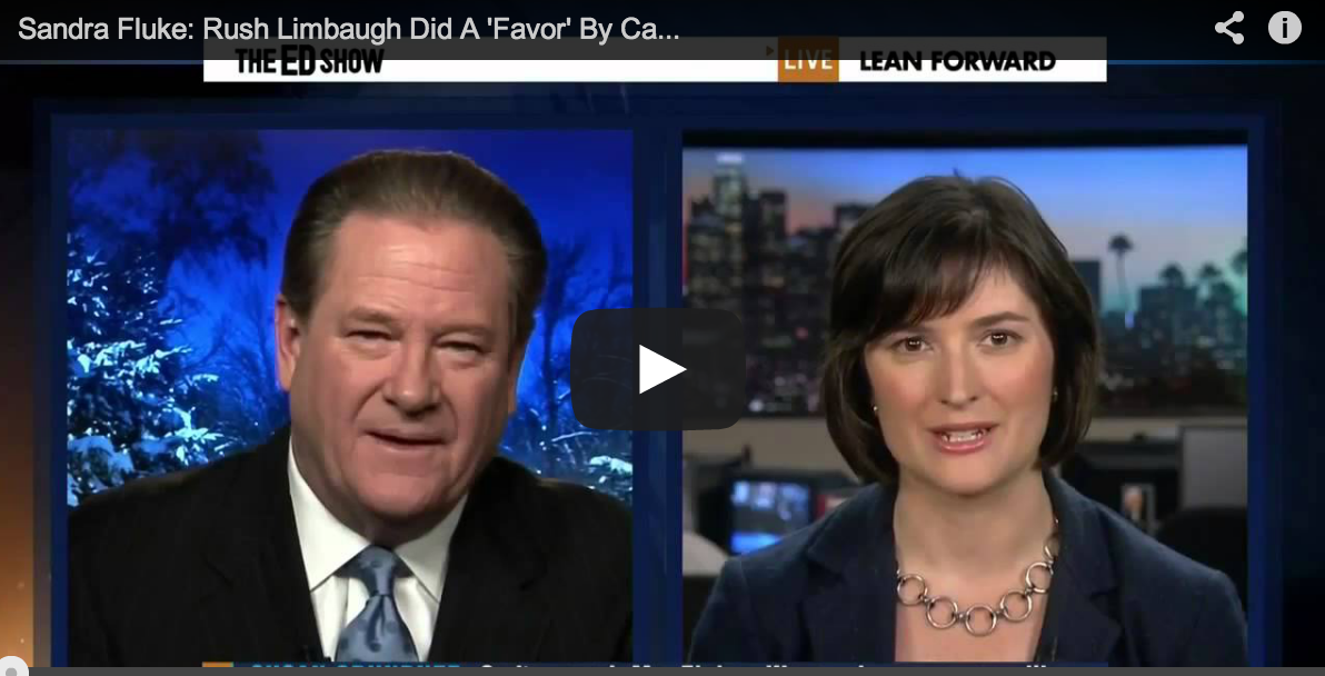 The Ed Show: Women's Rights Activist Sandra Fluke Runs for California Senate