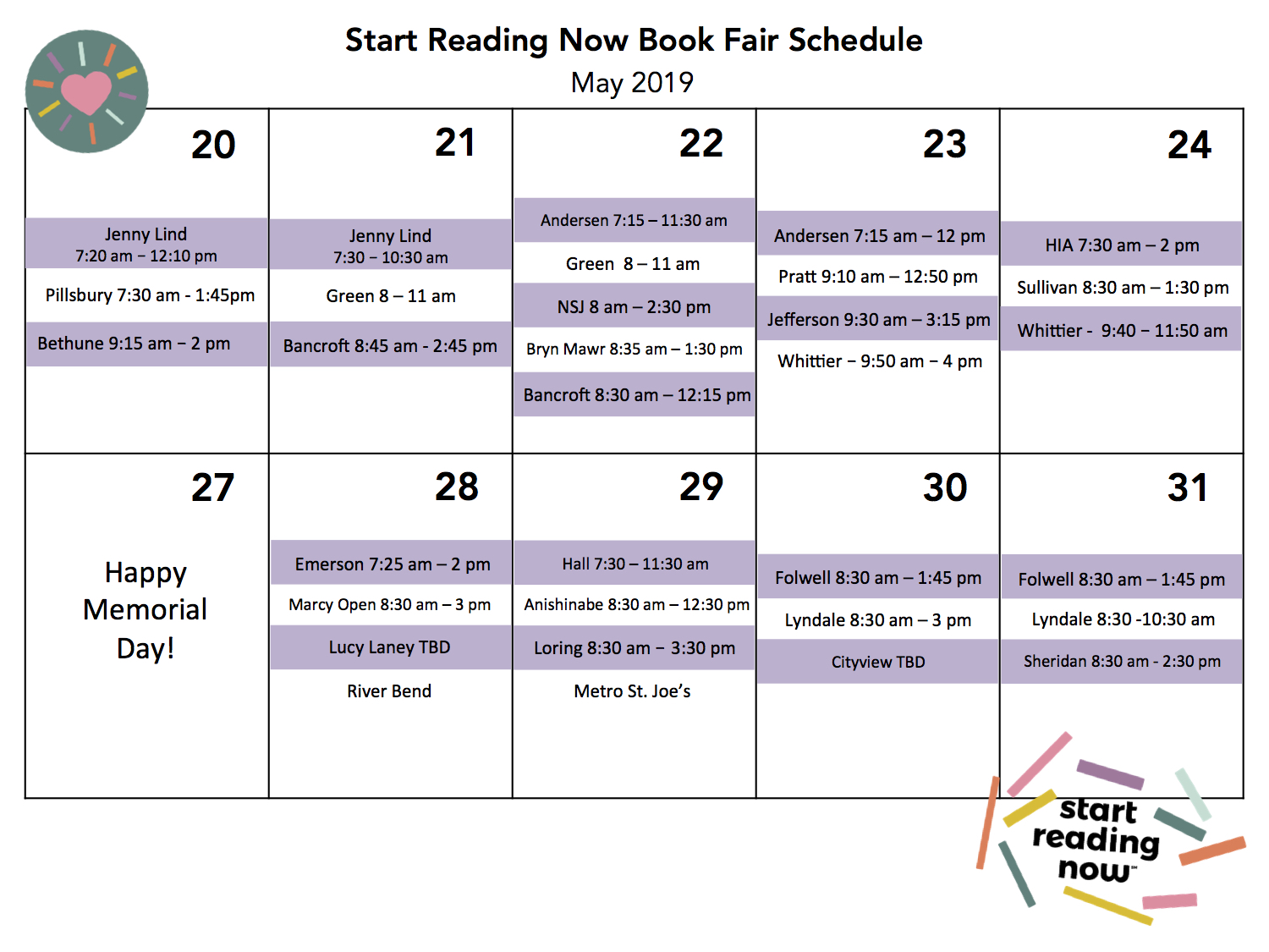 2019 Book Fair Visual