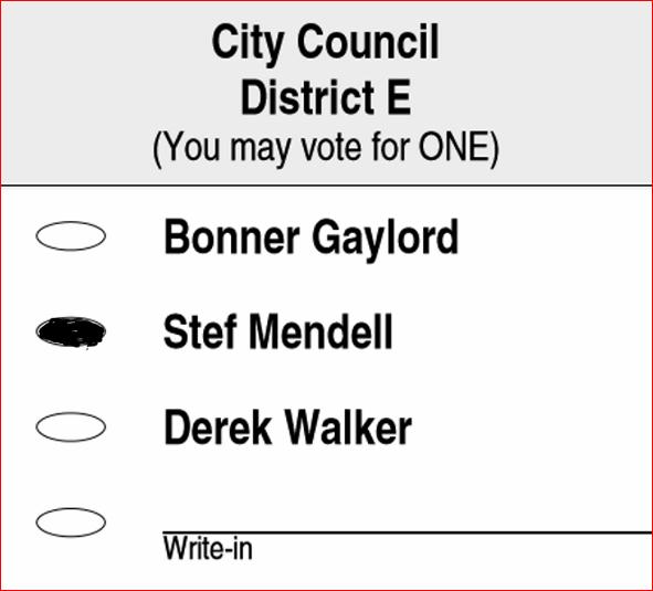 District E ballot