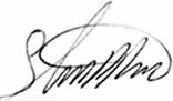 signature of Steve Ross
