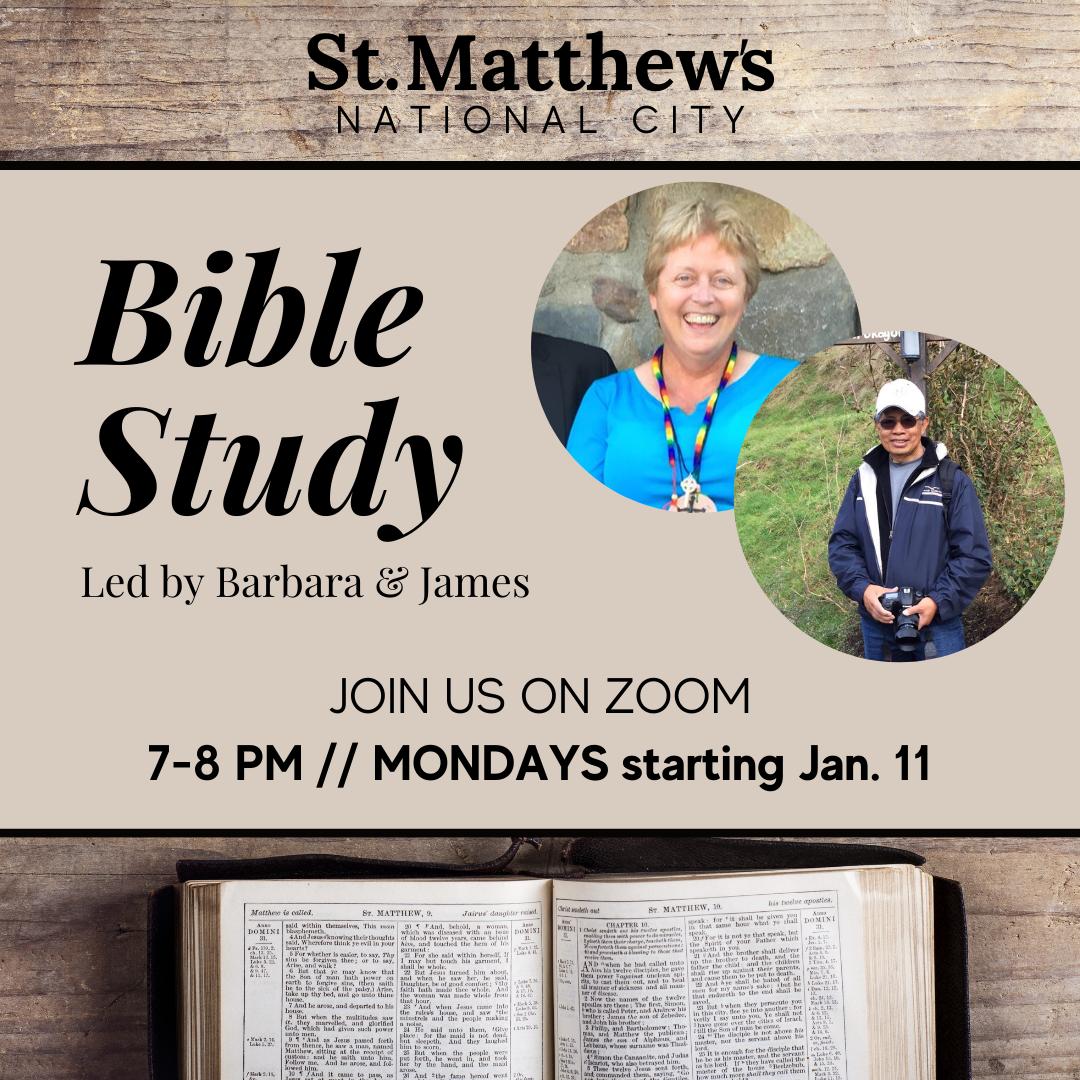 St. Matthew's National City Bible Study Monday Nights at 7 PM