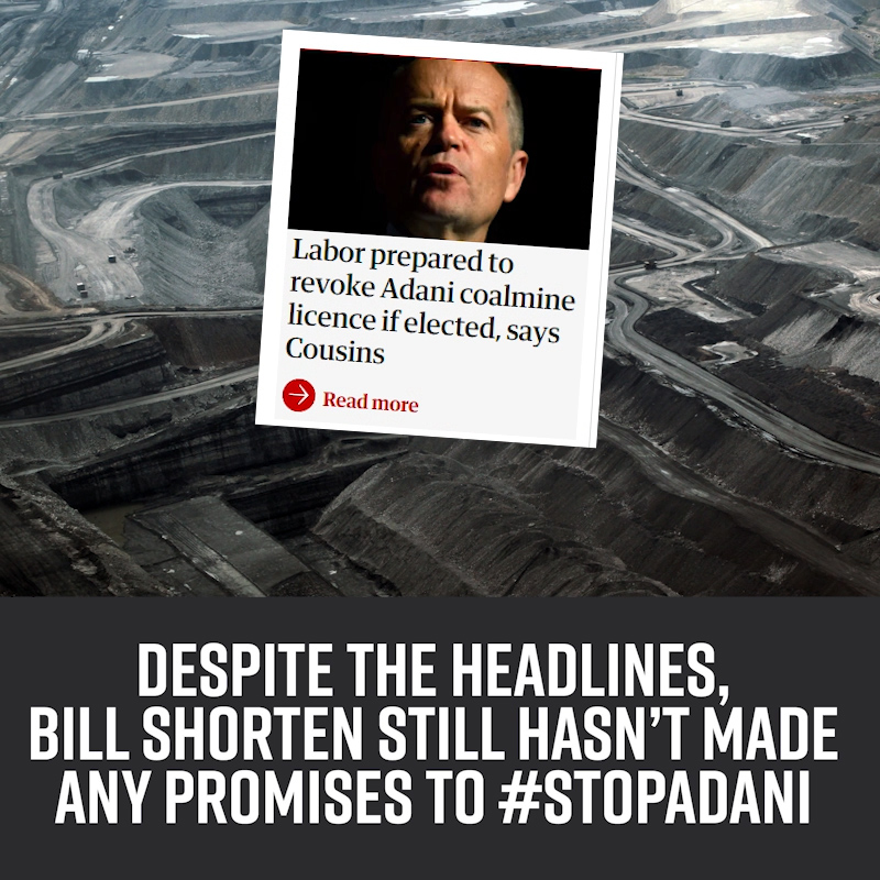 Labor hasn't made any promises.