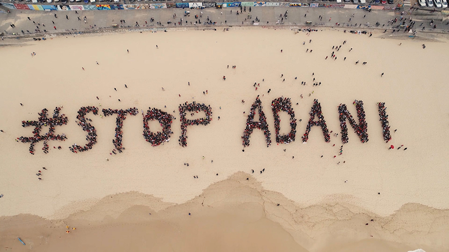 #StopAdani Action at Bondi Beach