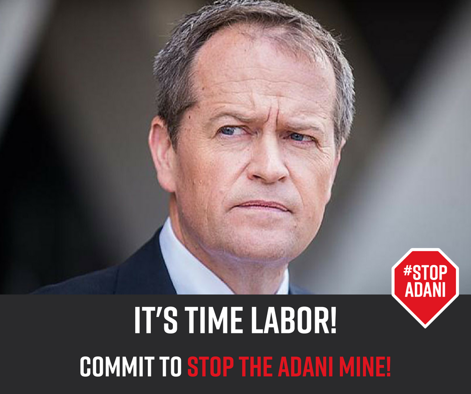 Labor has to commit to #StopAdani