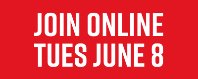 Join online Tues June 8
