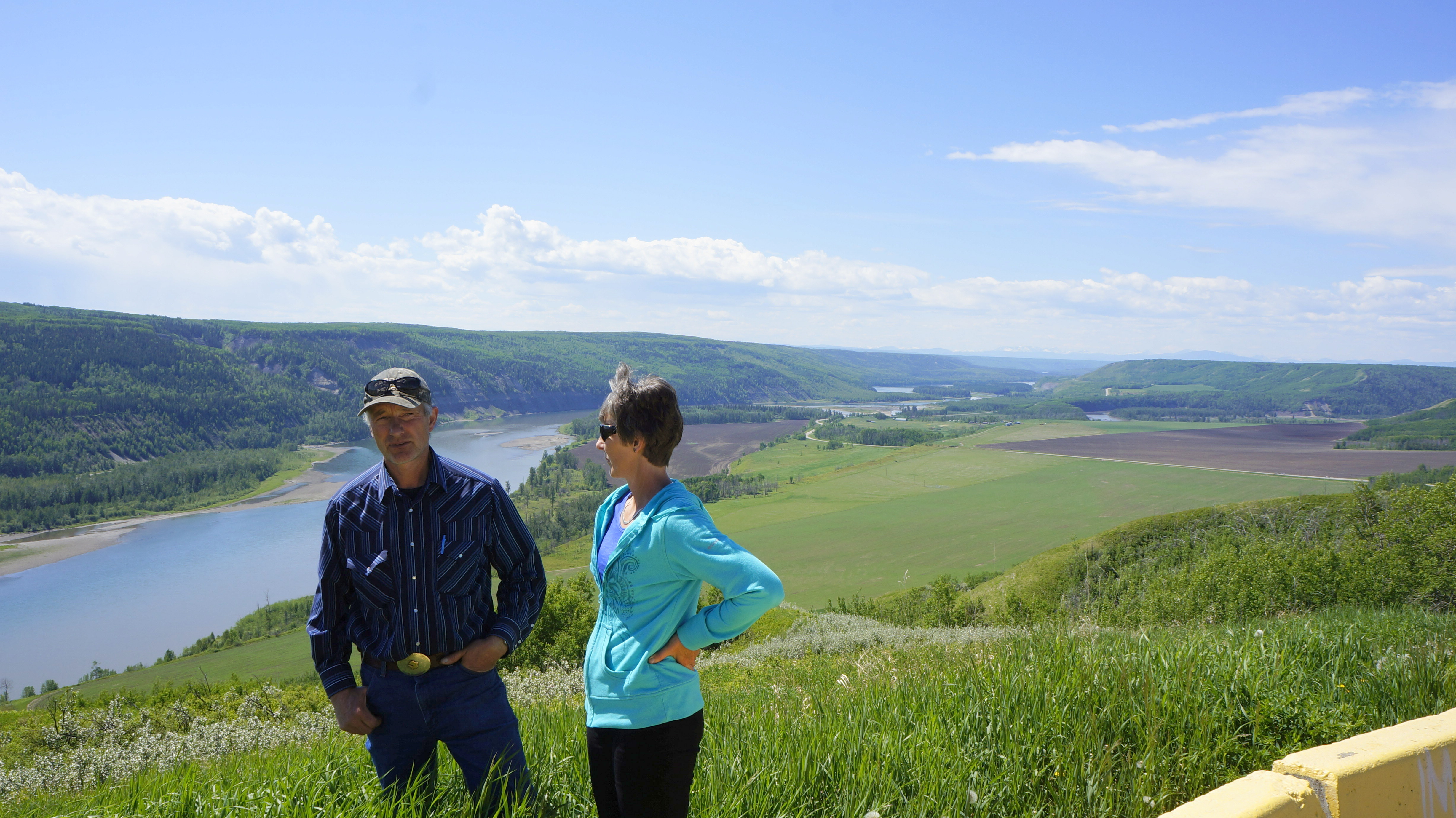 Ken and Arlene Boon at their farm in the Peace River Valley