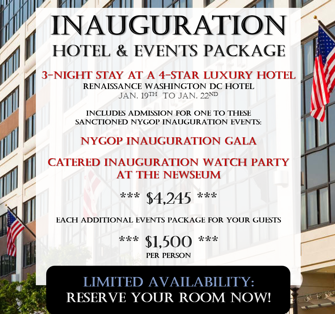 2017 Inauguration Hotel & Events Package